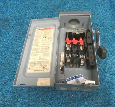 Square D 60a 240v Fusible Safety Switch D222nrb