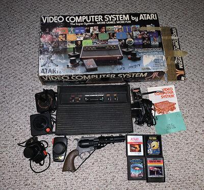 Atari 2600 Heavy Sixer Console System w/ Original Box Lot Bundle Woodgrain