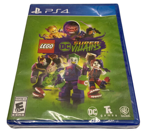 LEGO DC Comics Super Villains PlayStation 4, 2018 Brand New Damaged Case Read - $17.95