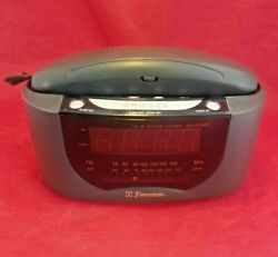 Vintage Emerson Model CKT9008 Phone Radio Alarm Clock Combo *Tested & Working*