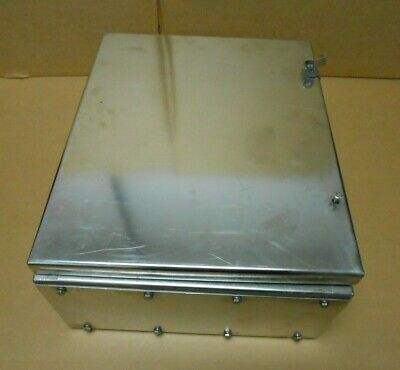 1 New Crouse Hinds Nxts14538203 316l Stainless Steel Enclosure 45 X 38 X 20 Cm