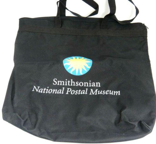 "Smithsonian National Postal Museum Large Tote Bag Black 15"" x 17"" Philatelist"