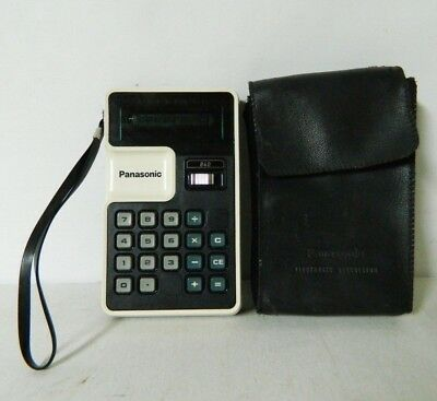 RETRO Vintage 840 PANASONIC JE-840U Electronic Calculator w/Case 1970's WORKS!