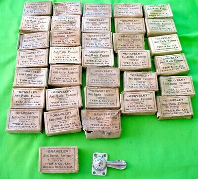 Job lot of new old stock vintage industrial boxed Graveley ANTI RATTLE catches