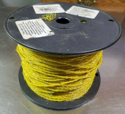 Woodstream Rsw1000 Poly Electric Fence Wire 826 Foot Reel 3 Wire Yellow