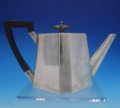 Victorian English Silver Tea Pot with Ebony Wood Handle and Finial (#4270)