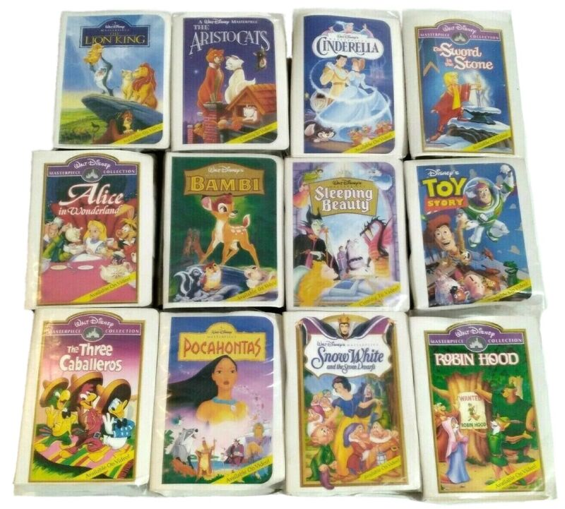 McDonalds Walt Disney Masterpiece Collection 12 Happy Meal VHS Toys New No Dupes