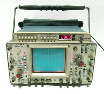 Tektronix 465b 100mhz 2-channel Oscilloscope Wdm44 Digital Multimeter Operators