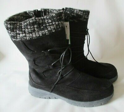 Itasca Penelope Black Micro Suede Winter Boots - Women