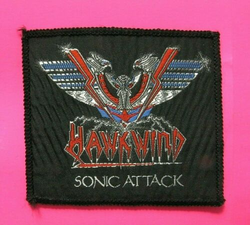 HAWKWIND OFFICIAL VINTAGE PATCH UK IMPORT SEW - ON SONIC ATTACK LEMMY MOTORHEAD