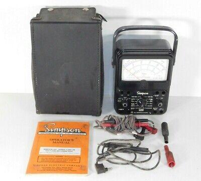Vintage Simpson 260 Series 7 Volt Ohm Multi Meter Vom Analog Test Tool Probes