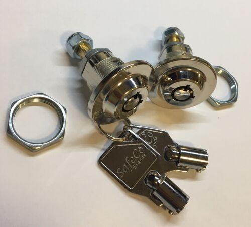 2 Homak safe Locks keyed alike-2 keys wall /Gun safes- SafeCo Brands