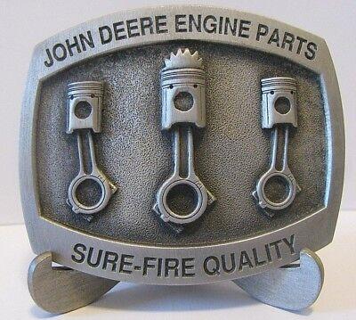 John Deere Tractor Engine Piston Overhaul Parts Pewter Belt Buckle Limit Ed 1996