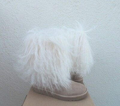 UGG LIDA TALL LONG MONGOLIAN SHEEPSKIN CUFF BOOTS, WOMENS US 5/ EUR 36 ~NIB for sale  Ventura