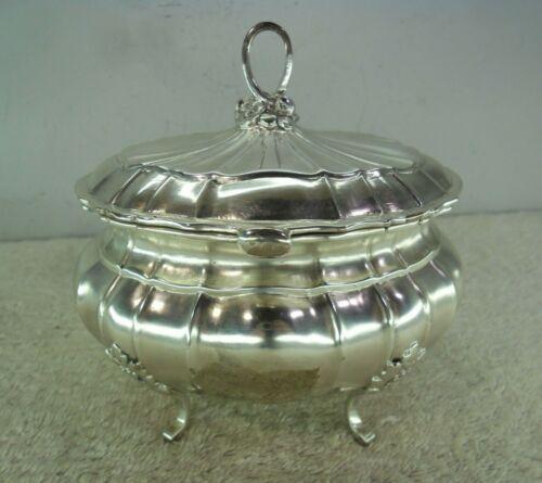 German Solid Silver c1910 Table Box/ Tea Caddy (#1820)