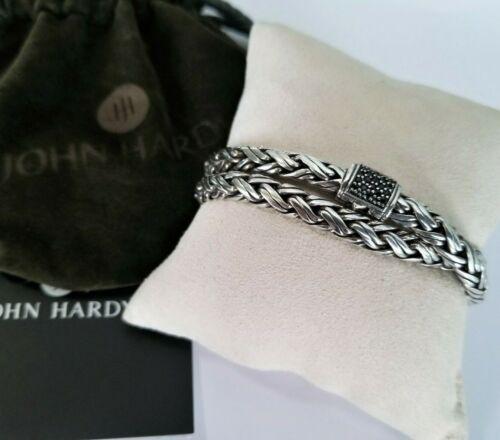 John Hardy RARE Kepang Double Wrap Black Sapphire Bracelet - Pristine!