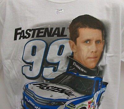 Carl Edwards   99 Fastenal Chase Authentics Draft T Shirt   Mens Large Free Ship