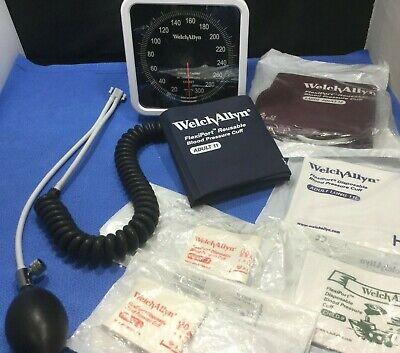 Welch Allyn Wall Aneroid Sphygmomanometer Head W 6 Cuffs Swivel Coil  Pkp
