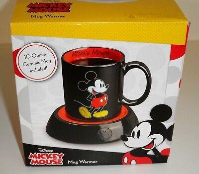 New Disney Mickey Mouse Mug Warmer W  10Oz Ceramic Coffee Tea Soup Mug In Box