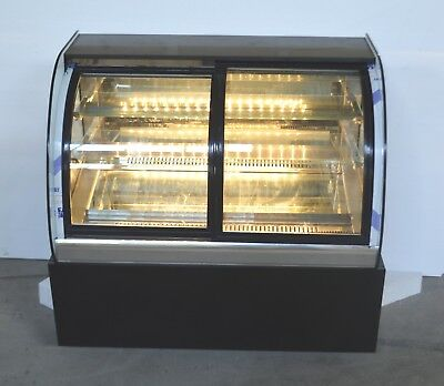 220v Commercial Curved Countertop Refrigerated Cake Bakery Display Case Cabinet