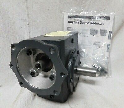 Dayton Standard Cast Iron C-face Speed Reducer Double Output 1300 Lb Overhung