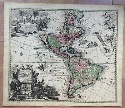 16x20 1652 North America New World Historic Vintage Style Wall Map