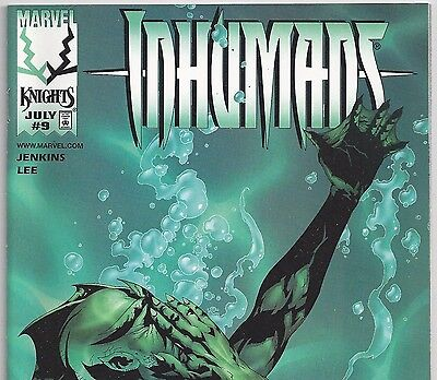 Marvel Comics THE INHUMANS #9 Black Bolt, Triton from July 1999 in NM- con.