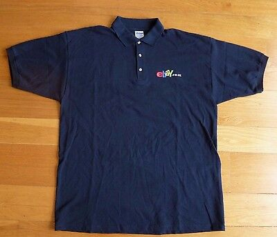 Ebay Co Uk Worlds Largest Online Mkt Place Black 100  Cotton Size Xl Polo Shirt