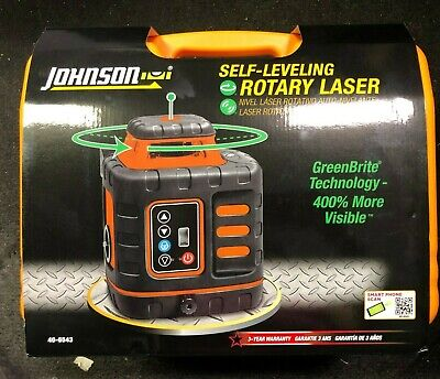 Johnson Self-leveling Rotary Laser W Greenbrite Tech 40-6543 Brand New