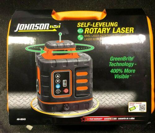 Johnson Self-Leveling Rotary Laser w/ GreenBrite Tech 40-6543 BRAND NEW