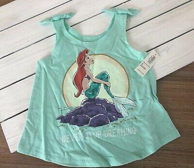 - Disney's Little Mermaid Tie Shoulder Tank by Old Navy - SeaFoam Green-2T 3T NWT