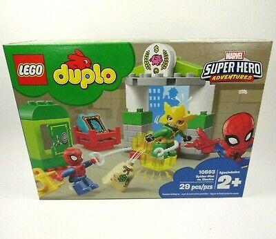 New Sealed LEGO Duplo 10893 Marvel Super Hero Adventures Spider-Man vs Electro