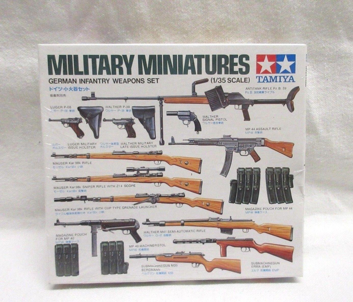 NIP - VTG - Tamiya Military Miniatures 1 35 German Infantry Weapons Set 35111 - $6.99