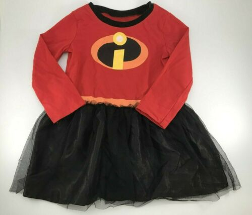 Disney Incredibles 2 Halloween Costume Dress w tutu Girls Size 2T - J41
