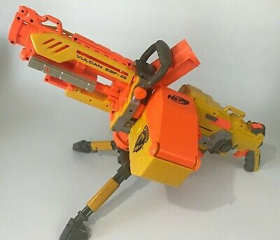 Nerf Vulcan EBF-25 Blaster N-Strike Foam Dart Machine Gun w/ Tripod And Ammo Box