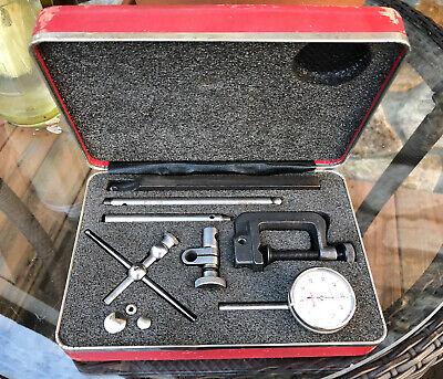 Starrett 196 Universal Back Plunger Dial Test Indicator Complete Set Machinist