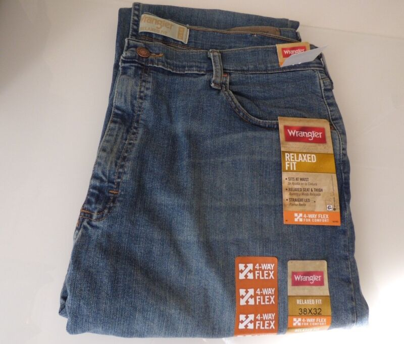 eed7e78d NEW Mens Wrangler Five Star Relaxed Fit Jean with Flex - Size Regular & Big