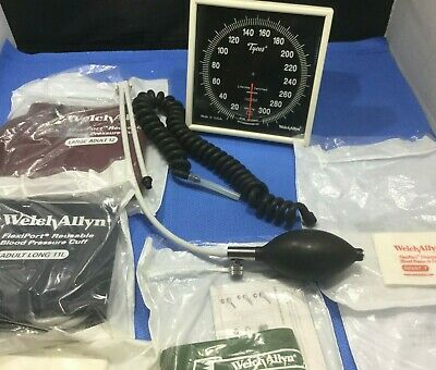 Welch Allyn Wall Aneroid Sphygmomanometer Head W 6 Cuffs Swivel Coil  Qkp