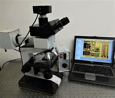 Leica Hund Wetzlar Biomed H600 Am Epi Trans Microscope Trinoc With Camera