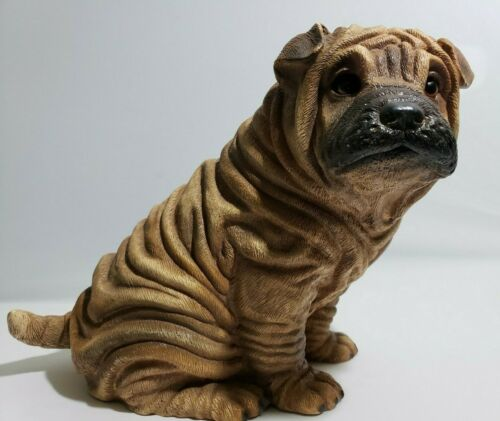 1985 Universal Statuary Corp 474 - Shar Pei Dog Sculpture Made in USA