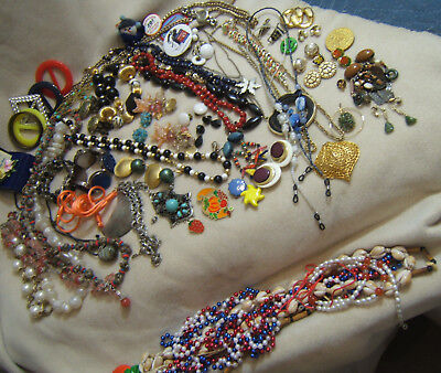 (costume Jewelry Collection Good Stuff Gold Dipped Leaf Stones ++)