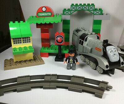 Rare LEGO 3353 Duplo Thomas Train set Spencer/Track/Tidmouth station Sir Topham
