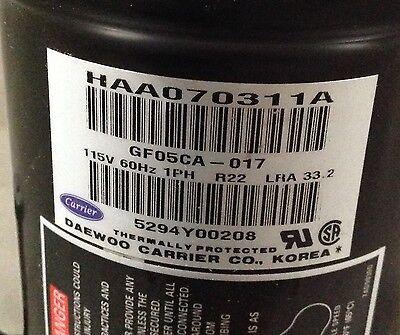 Discounthvaccp-p0330703-carrier Compressor Gf05ca-017 115v R22 Free Freight