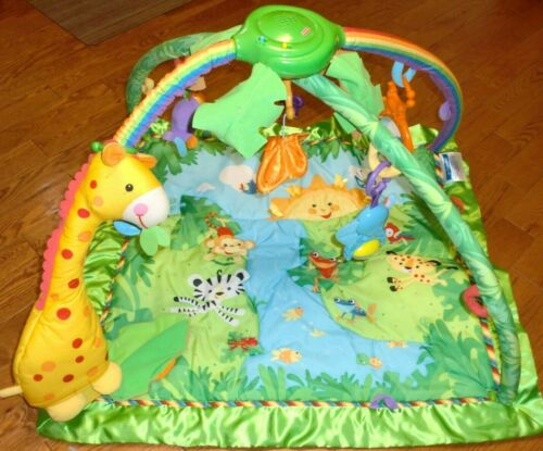 Fisher Price Rainforest Lights and Sounds Activity Gym Play Mat