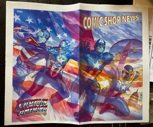 COMIC SHOP NEWS #1753, THE UNITED STATES OF CAPTAIN AMERICA, ALEX ROSS ART PROMO