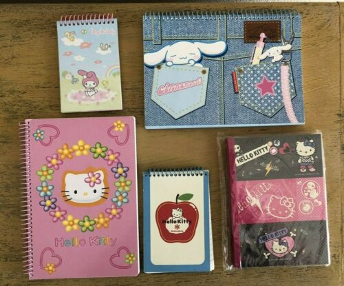 Hello Kitty My Melody Cinnamoroll Vivitix Notebook Lot Of 5