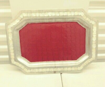 "Classic Julia Knight Classic 20"" Octagonal Tray Pomegranate"