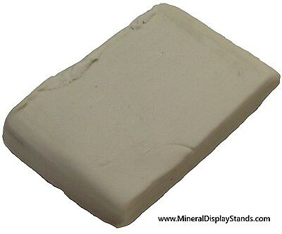 White Mineral Tack 1 Ounce Bar (never hardens) sticky slab crystal display geode