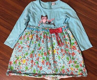 LYNLLA KIDS GIRLS OWL DRESS SIZE 7 - 8 (Girls Owl Dress)