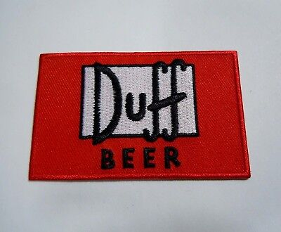 """DUFF BEER-The Simpsons - Embroidered IronOn Patch - 3"""" x 2"""" Springfield's Finest"""